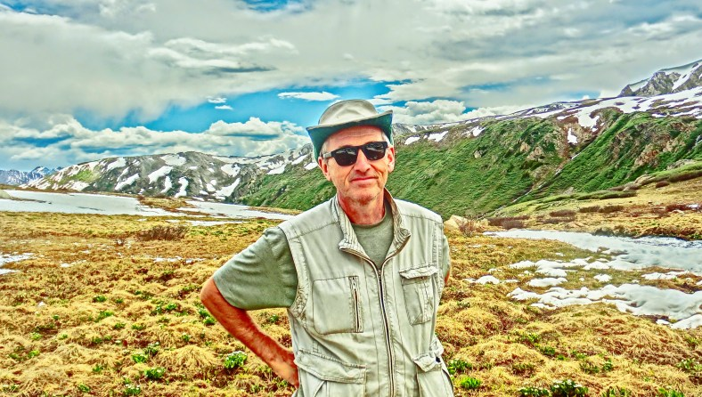 Author, Roaring Fork River, Headwaters, Lost Man Trail.
