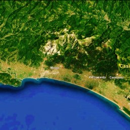 Pisa to Casoli, Google Earth. The North West Tuscan Tour at martincooney.com
