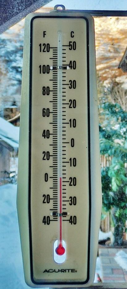 Zero Degree Thermometer