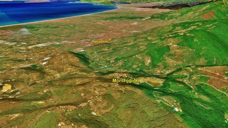 Monteggiori, Map 4, Google Earth