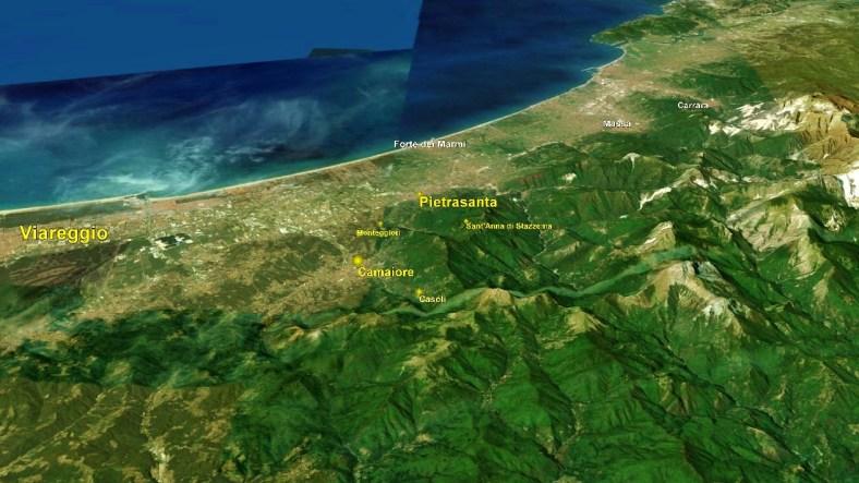 Viareggio Map 2 Google Earth