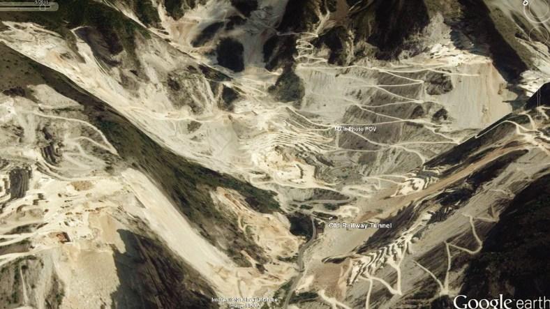 Carrara Marble Quarries Map 7 Google Earth