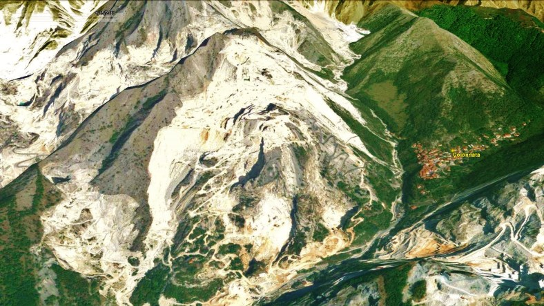 Colonnata Map 5 Google Earth