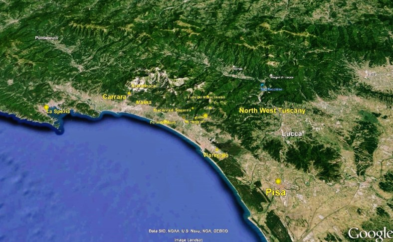 La Spezia Big Map 1 Google Earth