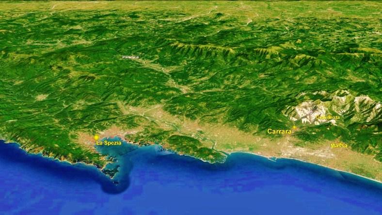 La Spezia Map 3 Google Earth