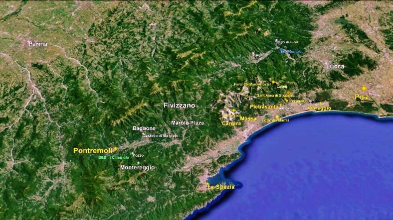 Lunigiana Map 1 Google Earth
