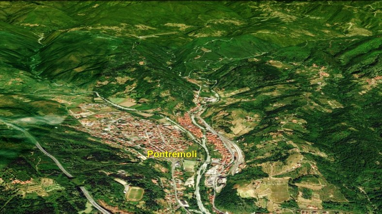 Pontremoli Map 3 Google Earth, North West Tuscan Way