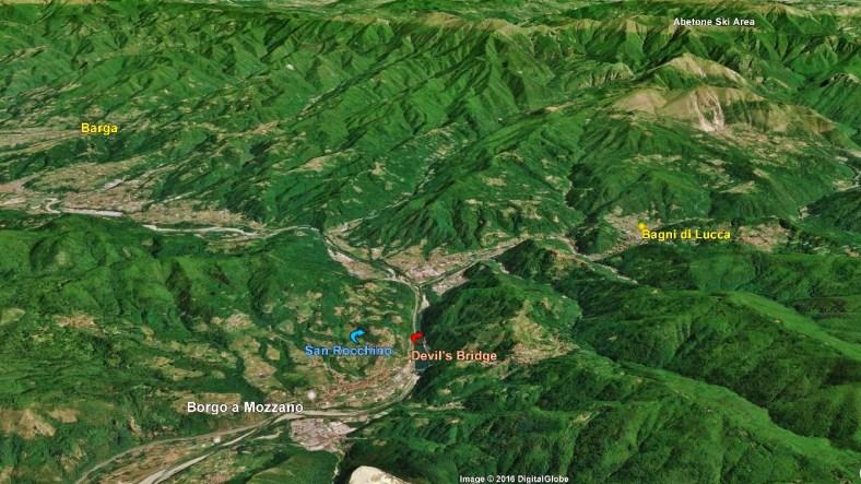 Bagni di Lucca map 3 Google Earth