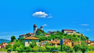 Hilltop Village, Countryside Around Lucca and Pisa
