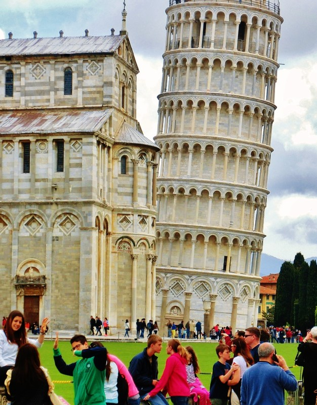 The Place of Miracles, Leaning Tower, Cathedral, Old Pisa, Along The North West Tuscan Way by Martin Cooney