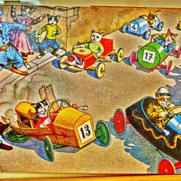 Postcard: Soap Box Derby Thrills and Spills.