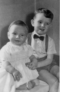 Martin Cooney, first photograph, with brother Michael