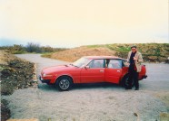 Martin Cooney author martincooney.com, with The Grover, Cornwall, England, mid 1980s