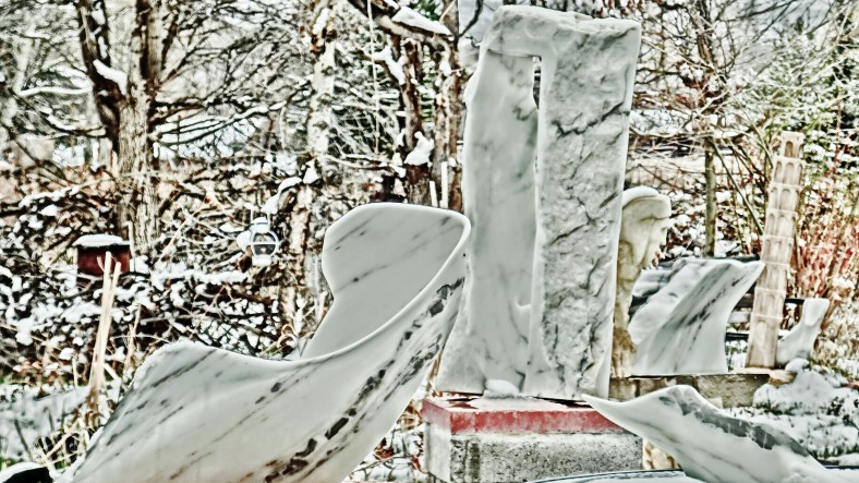 Swan Wave, Oblique Perspective, a Snowgoyle, Mabel, Troy, Elk Mountain Bowl