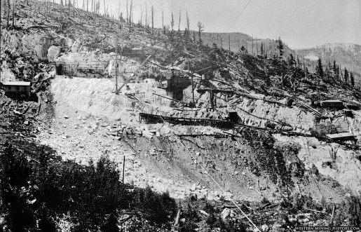Yule Marble Quarry, 1907, quarry face panorama (2)