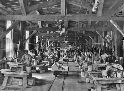 Yule Marble Quarry, 1913 hand polishing plant (2)