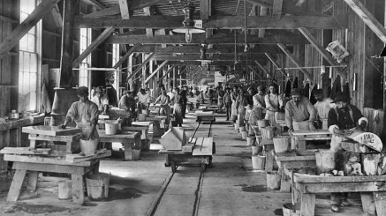 Yule Marble Quarry, 1913 hand polishing plant (3)