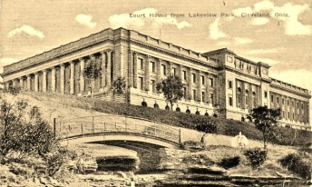 Yule Marble Applications, Cuyahoga County Court House, historic postcard, Cleveland, Ohio
