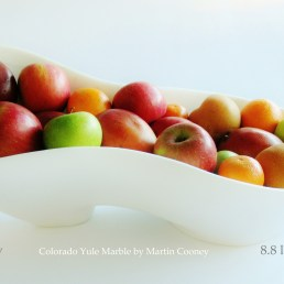 Along The Way, with Mixed Fruit, Colorado Yule Marble Sculpture by Martin Cooney