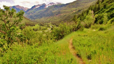 Panoramic View from McClure Pass Wagon Road Trail, Along The Aspen Marble Detour