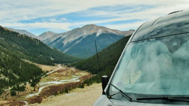 The Detour Bus, Independence Pass, Road Trip 1, Late October 2019