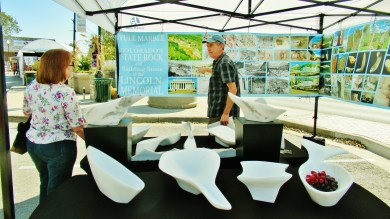 Unique Marble Company Booth, Granbury, Texas, Art Festival, UMC Road Trip 1, Late October 2019