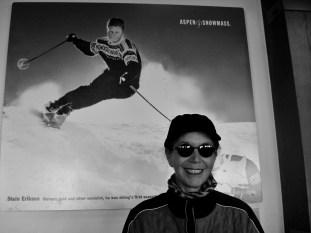 Kris Cooney poses atop Aspen Mountain