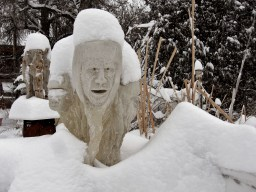 Snowgoyles, First Snow to fall whilst carving the 1314 Winter Collection