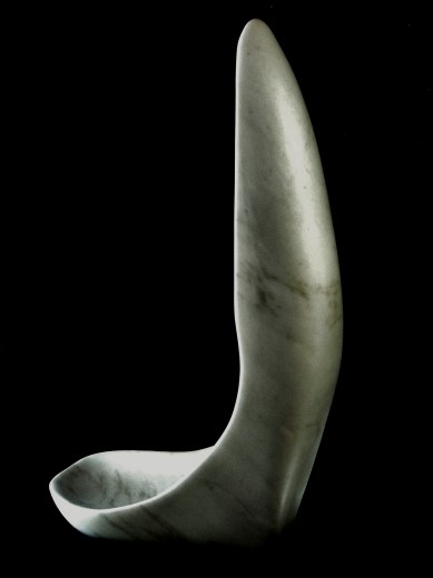 'Finger Bowl' by MARTIN COONEY, Colorado Yule Marble Sculpture, 1314 Winter Collection
