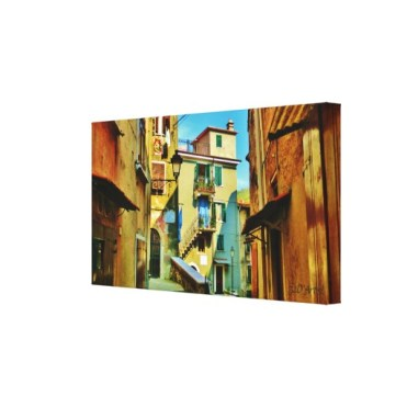 Downtown Colonnata, 24 x 13, Wrapped Canvas Print, right