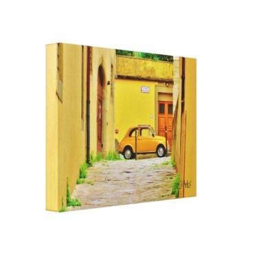 Fiat in a Box, Pistoia, Wrapped Canvas Print, 14 x 11, left