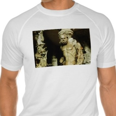Florence Cathedral Alter Statue, Men, Sport-Tek Fitted Performance T-Shirt, Front, White