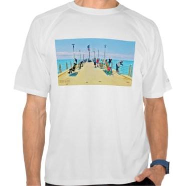 Forte dei Marmi Pier Lunchtime Crowd, Men, Champion Double Dry Mesh T-Shirt, Front, White