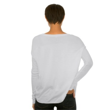 Italian Fishing Village, Cinque Terre, Women's Bella Flowy Long Sleeve T-Shirt, Back, White
