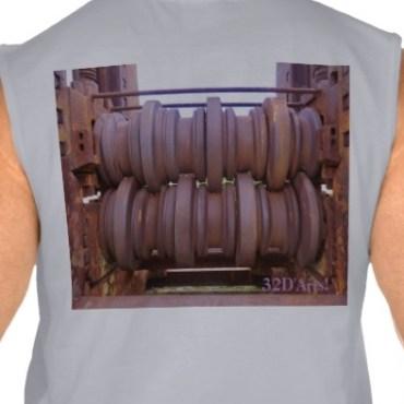 Piombino Castle Prison Yard Crusher, Men, Ultra Cotton Sleeveless T-Shirt, Back, Sport Grey