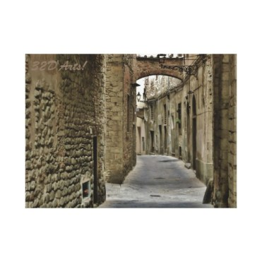 Pistoia Medieval Arched Alley, 22 x 16, Stretched Canvas Print, center