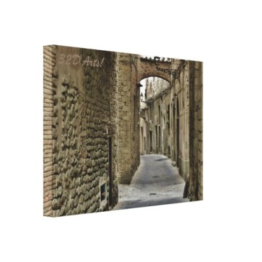 Pistoia Medieval Arched Alley, 22 x 16, Stretched Canvas Print, left
