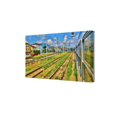 Pulling into Lucca, 24 x 12, Wrapped Canvas Print, right