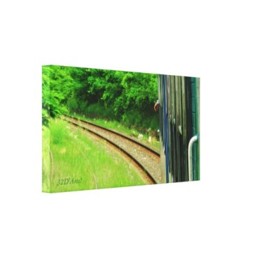 Tuscan Train Left Turn, 24 x 13, Wrapped Canvas Print, left