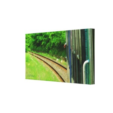 Tuscan Train Left Turn, 24 x 13, Wrapped Canvas Print, right