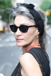 stylish long gray hair