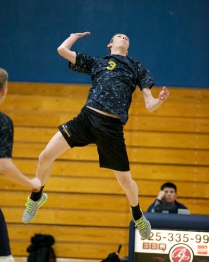 #3 Corey Drevne Alhambra Boy's Volleyball vs Concord High School Photos by Mark Fierner Martinez News-Gazette