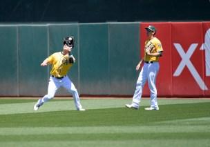 Oakland A's vs Houston Astros Center fielder Mark Canha Photos by Gerome Wright Martinez News-Gazette