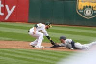 Oakland Athletics vs Seattle Mariners 2B #8 Jed Lowrie Photos by Tod Fierner Martinez News-Gazette