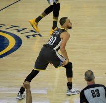 Steph Curry admiring his three pointer. Photos by Gerome Wright Martinez News-Gazette