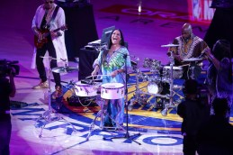 Golden State Warriors vs Houston Rockets Game 4 of the Western Conference Finals Sheila E. Half time entertainment. Photos by Tod Fierner
