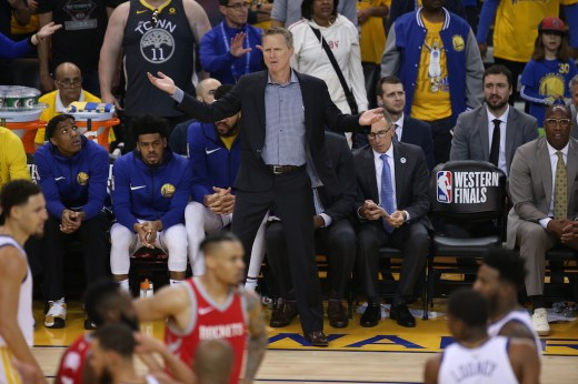 Golden State Warriors vs Houston Rockets Game 6 Coach Steve Kerr Photos by Tod Fierner Martinez News-Gazette