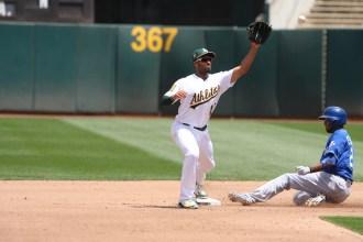 Oakland A's vs KC Royals #10 SS Marcus Semien Photos by Tod Fierner (Martinez News-Gazette)