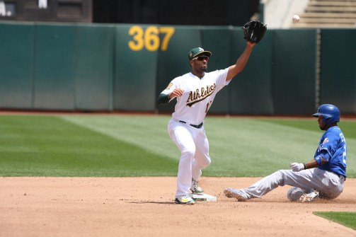 Oakland A's vs KC Royals #10 SS Marcus Semien Photos by Tod Fierner (Martinez News-Gazette)