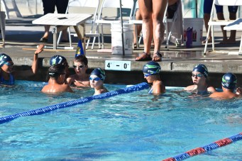 Otters warming up at the Benicia meet